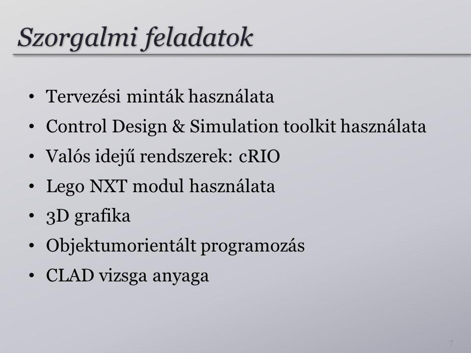 Szorgalmi feladatok Tervezési minták használata