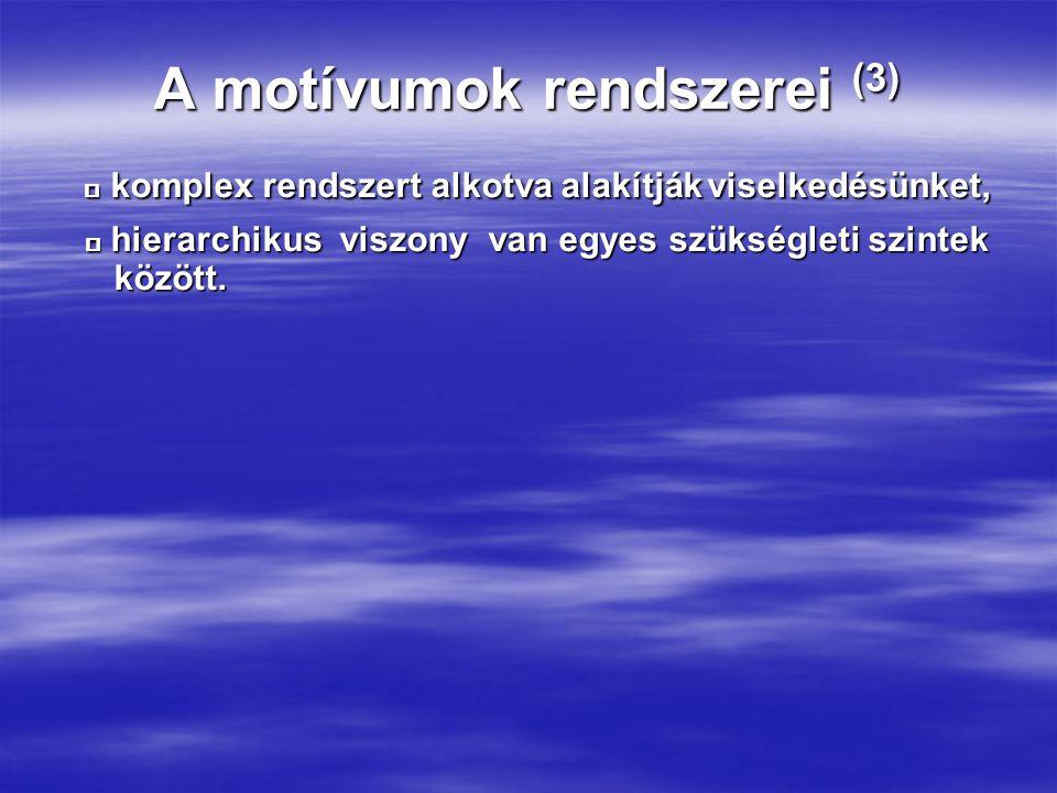 A motívumok rendszerei (3)