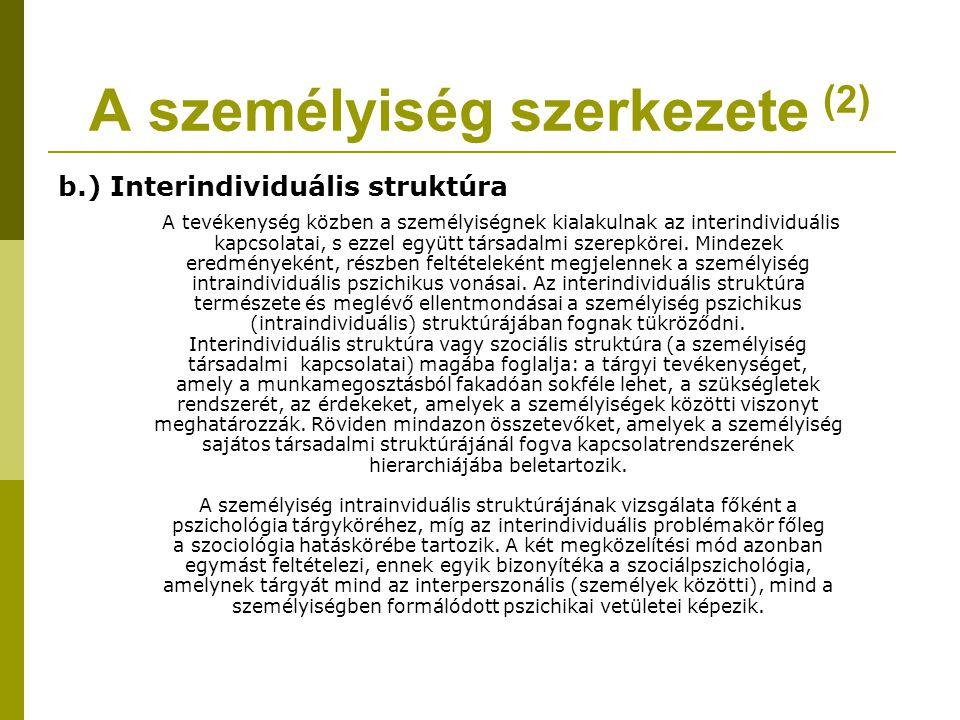 A személyiség szerkezete (2)