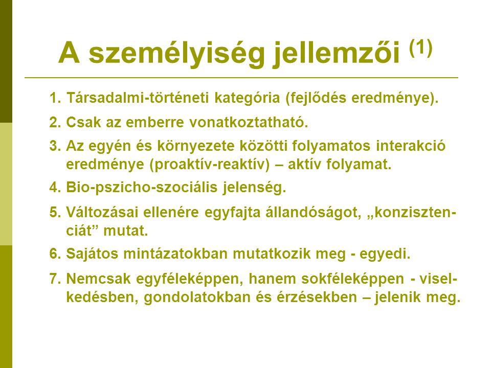 A személyiség jellemzői (1)