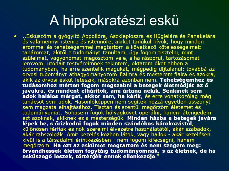 A hippokratészi eskü