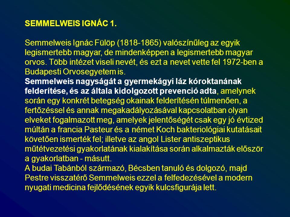 SEMMELWEIS IGNÁC 1.