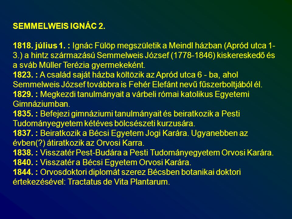 SEMMELWEIS IGNÁC 2.