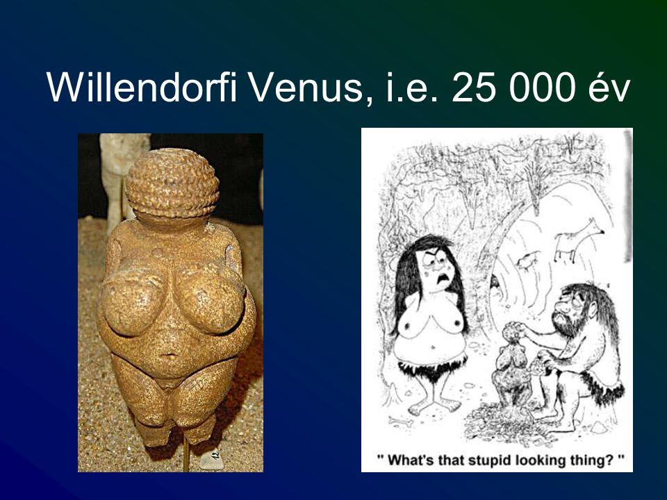 Willendorfi Venus, i.e. 25 000 év