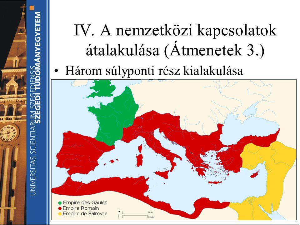 IV. A nemzetközi kapcsolatok átalakulása (Átmenetek 3.)