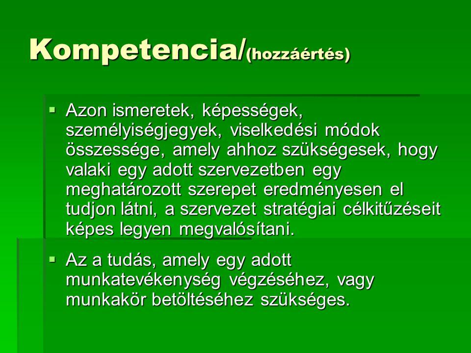 Kompetencia/(hozzáértés)