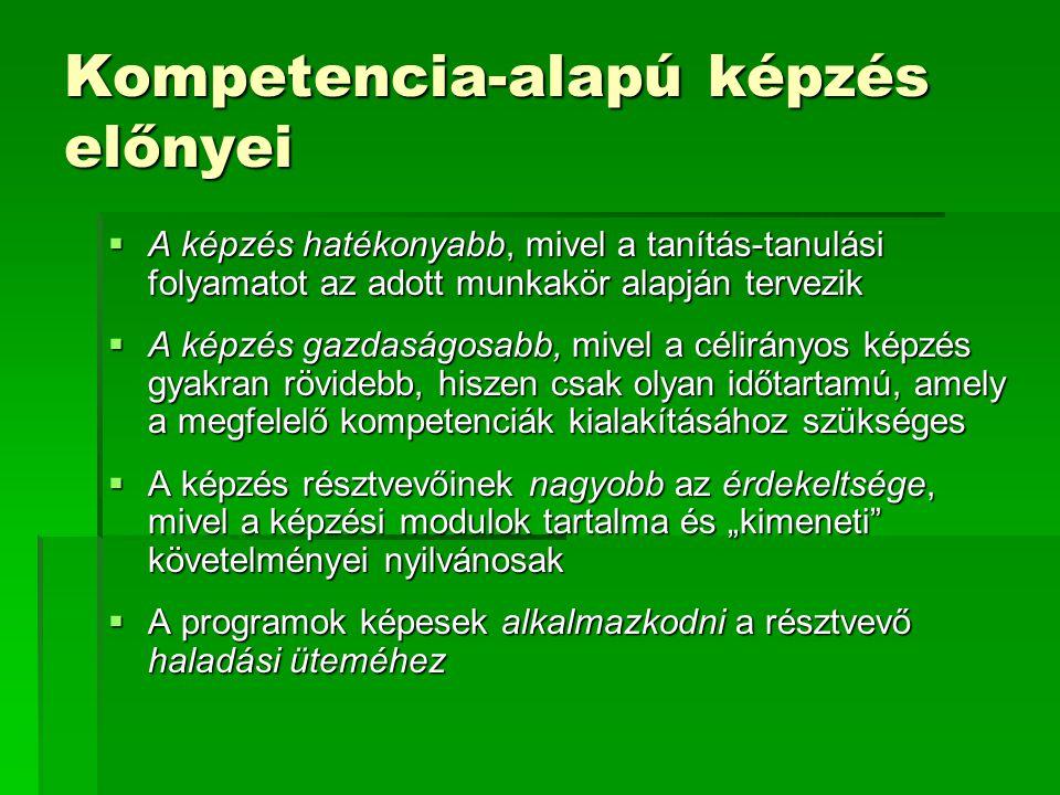 Kompetencia-alapú képzés előnyei