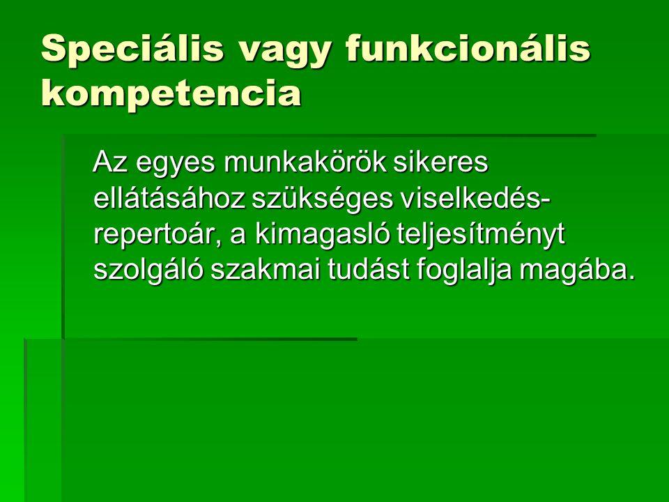 Speciális vagy funkcionális kompetencia