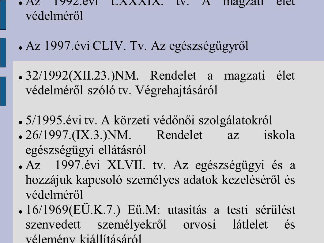 Az 1992.évi LXXXIX. tv. A magzati élet védelméről