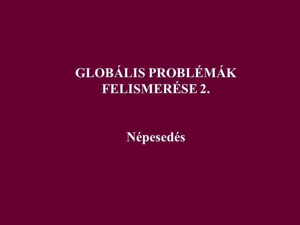 GLOBÁLIS PROBLÉMÁK FELISMERÉSE 2.