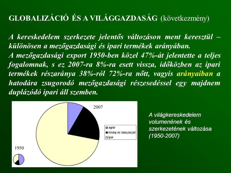 GLOBALIZÁCIÓ ÉS A VILÁGGAZDASÁG (következmény)