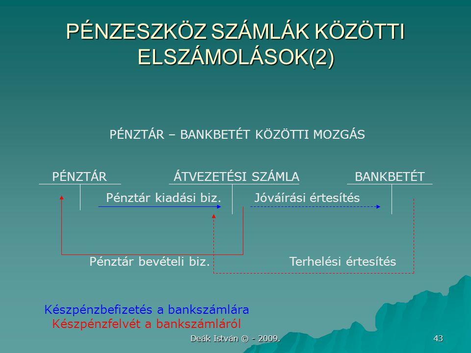 PÉNZESZKÖZ SZÁMLÁK KÖZÖTTI ELSZÁMOLÁSOK(2)