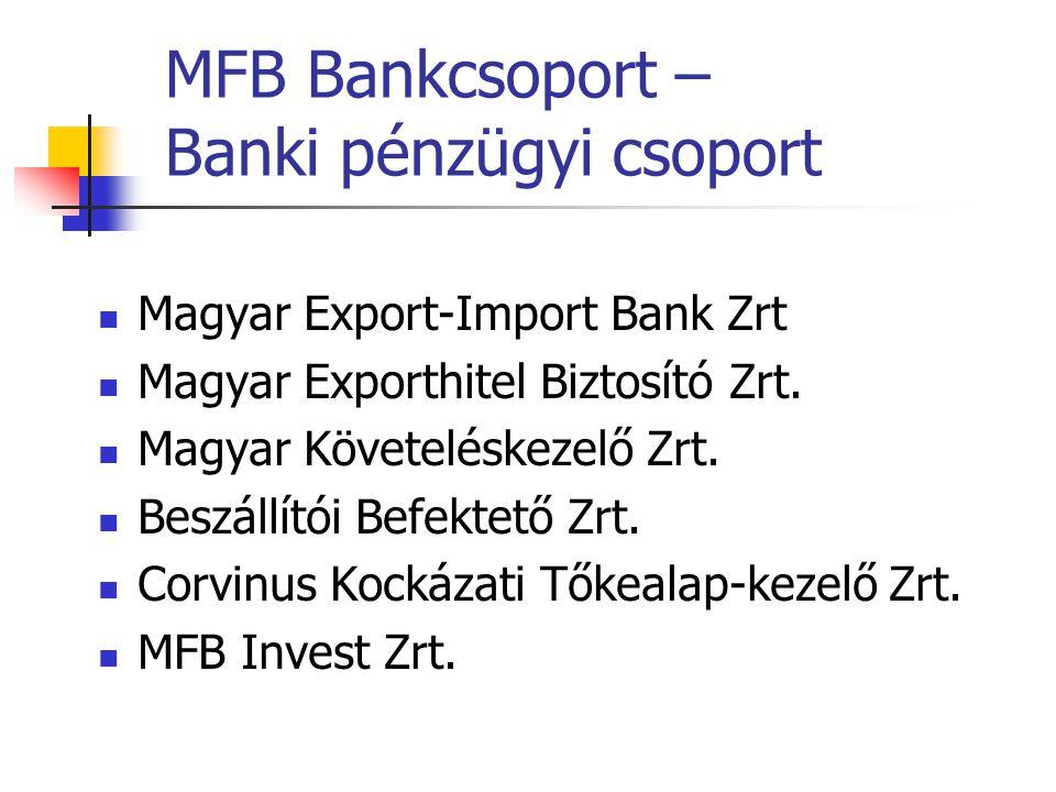 MFB Bankcsoport – Banki pénzügyi csoport