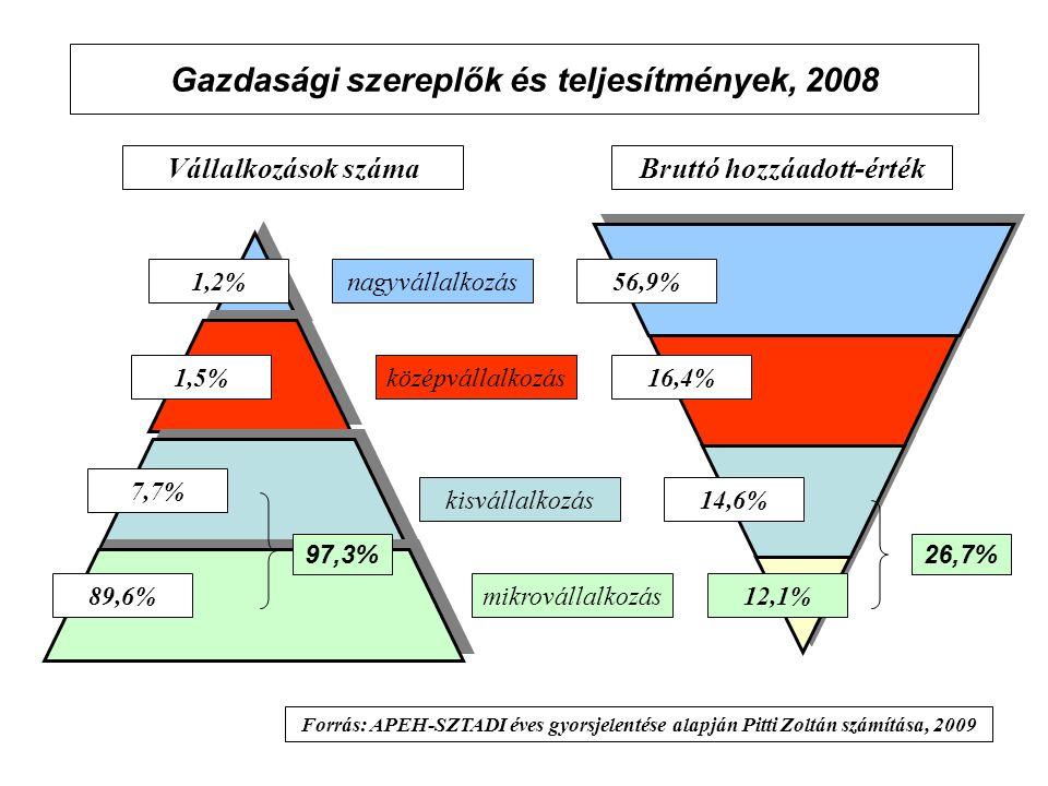 Gazdasági szereplők és teljesítmények, 2008
