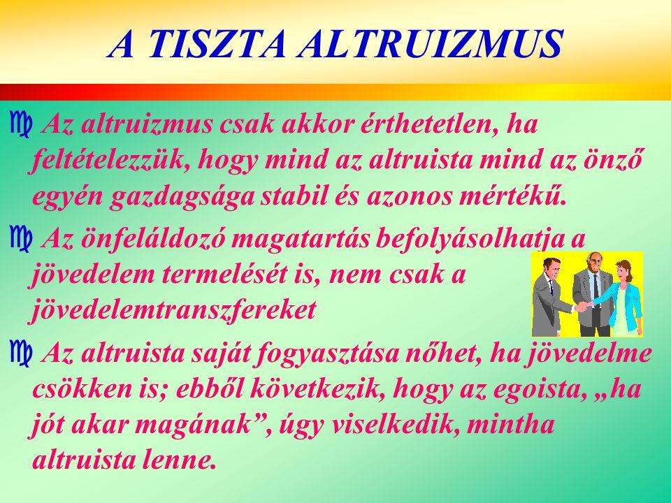 A TISZTA ALTRUIZMUS
