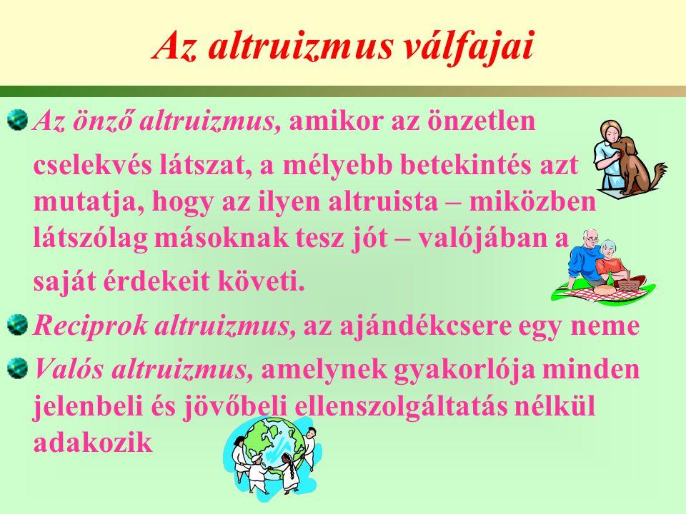 Az altruizmus válfajai