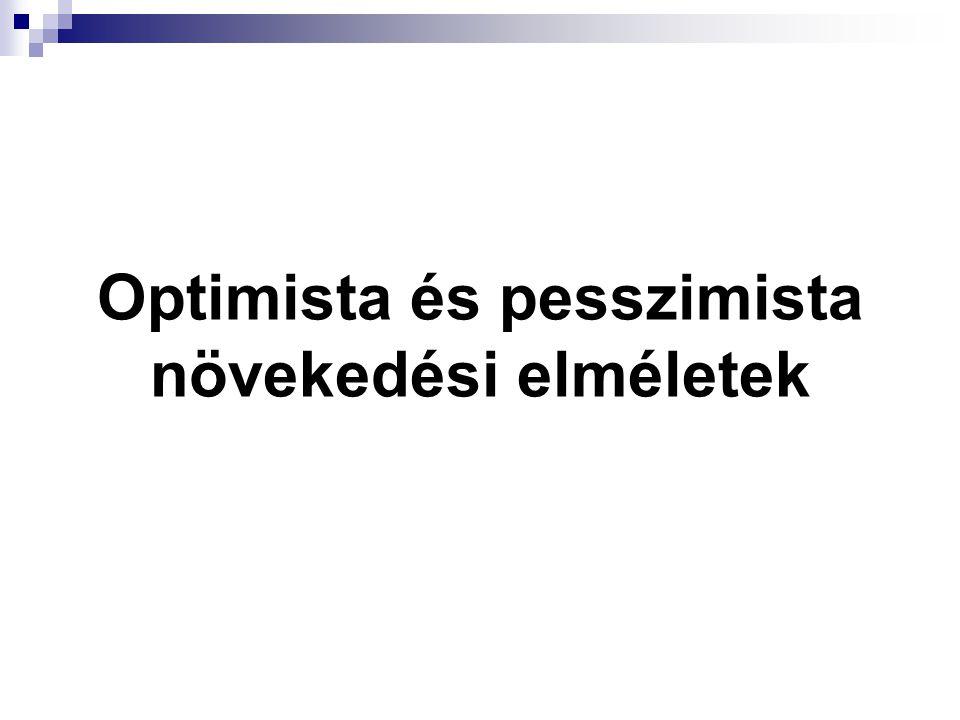 Optimista és pesszimista növekedési elméletek