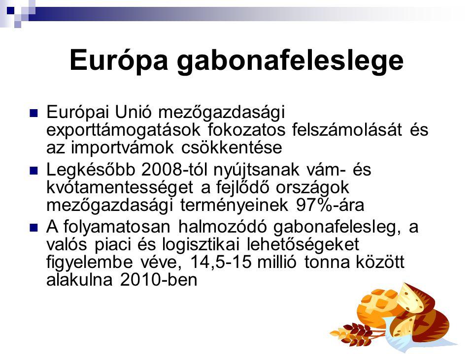Európa gabonafeleslege