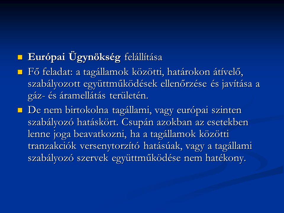 Európai Ügynökség felállítása