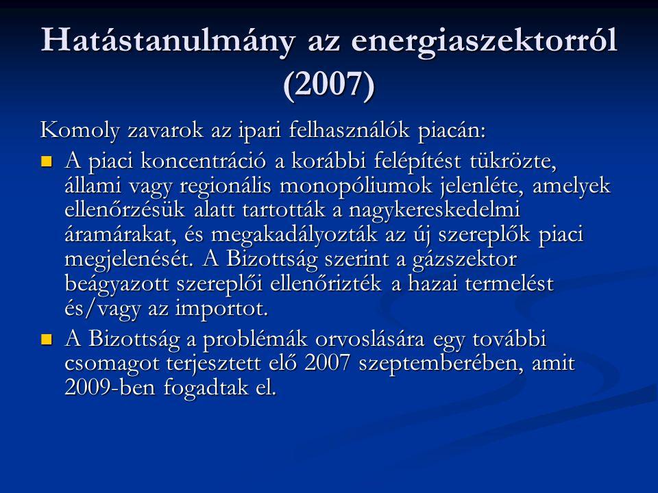 Hatástanulmány az energiaszektorról (2007)