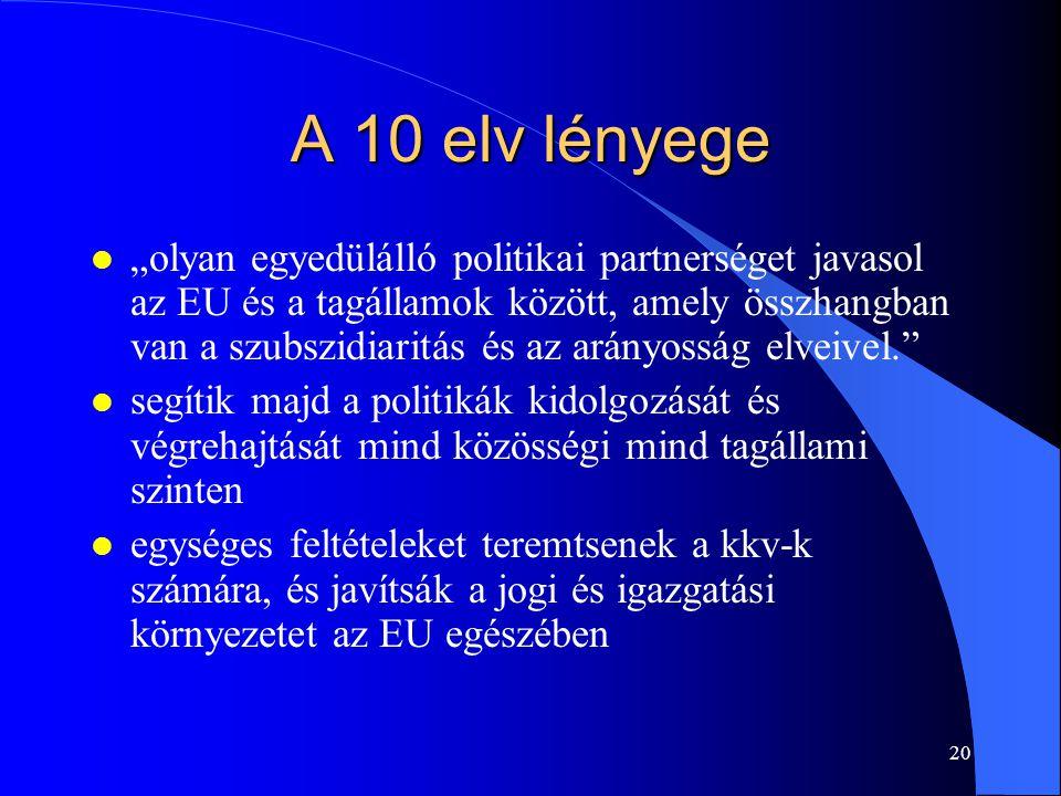 A 10 elv lényege