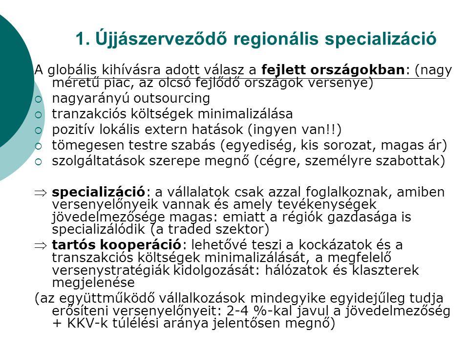 1. Újjászerveződő regionális specializáció