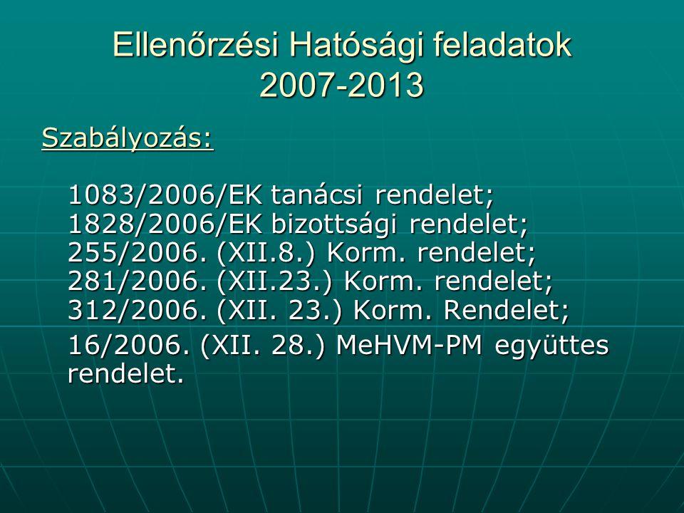 Ellenőrzési Hatósági feladatok 2007-2013