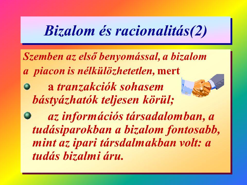 Bizalom és racionalitás(2)