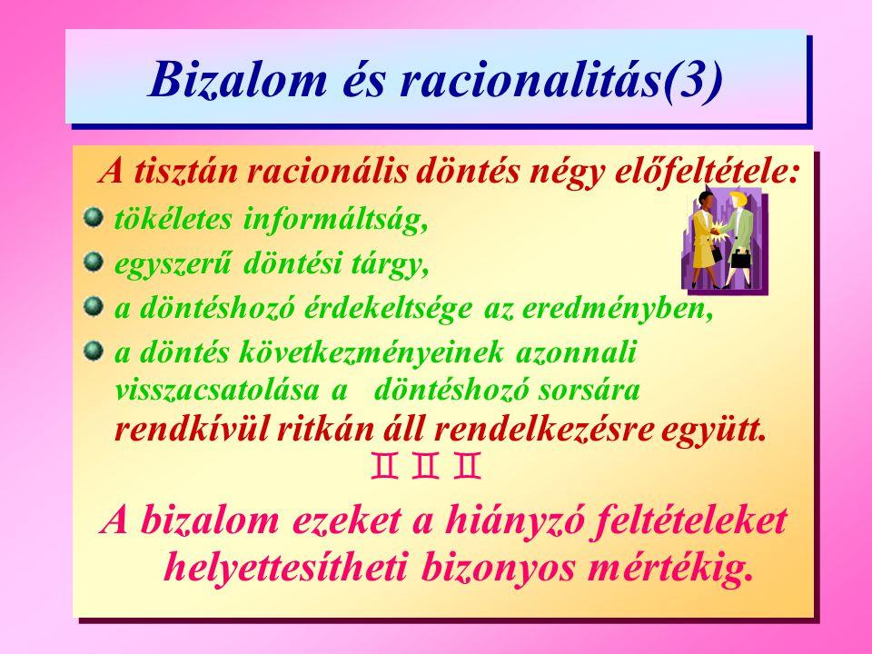 Bizalom és racionalitás(3)