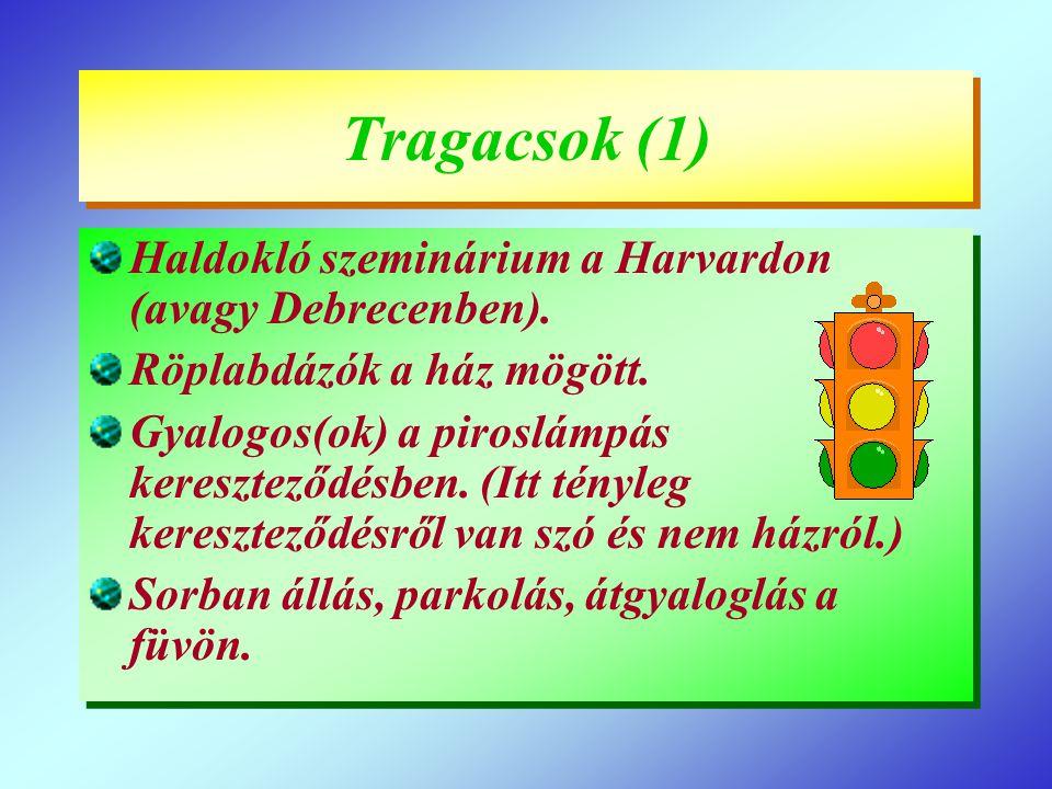 Tragacsok (1) Haldokló szeminárium a Harvardon (avagy Debrecenben).