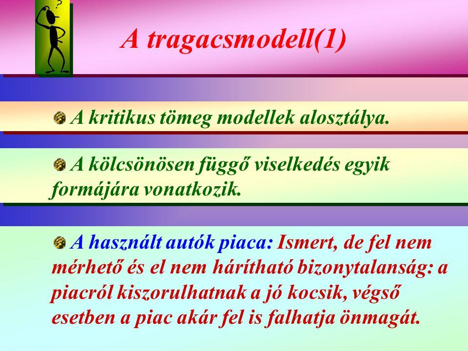A tragacsmodell(1) A kritikus tömeg modellek alosztálya.