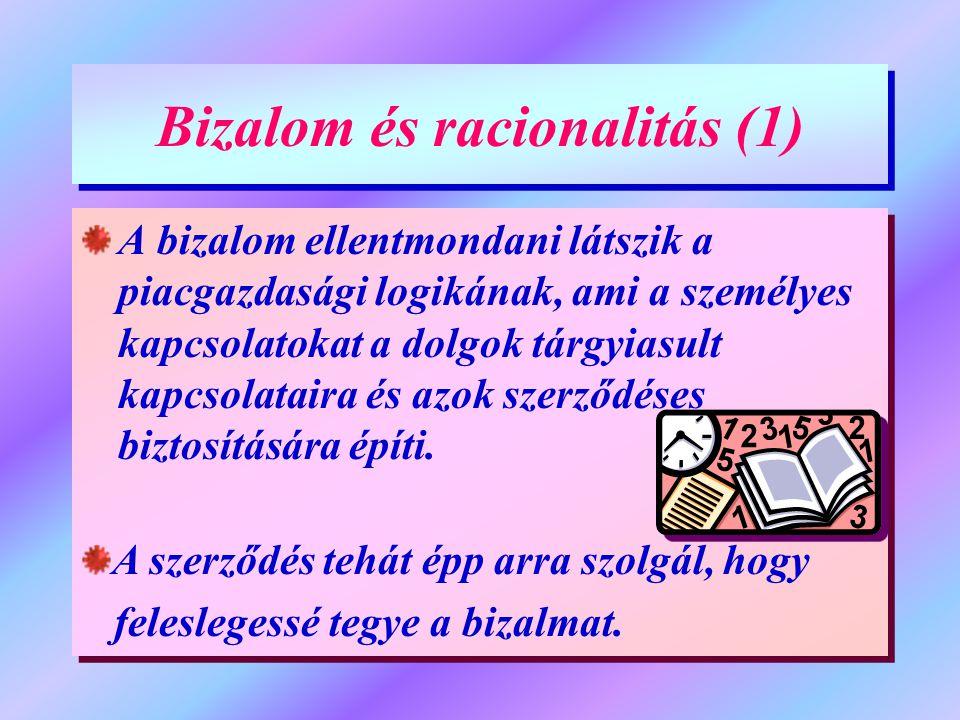 Bizalom és racionalitás (1)