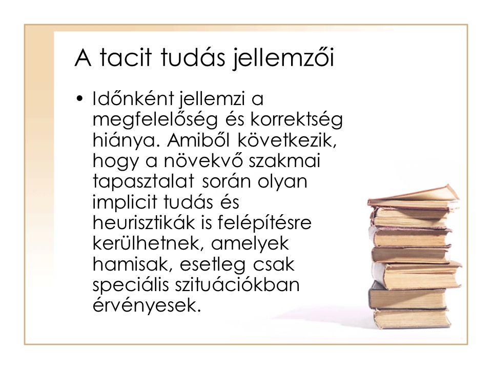 A tacit tudás jellemzői