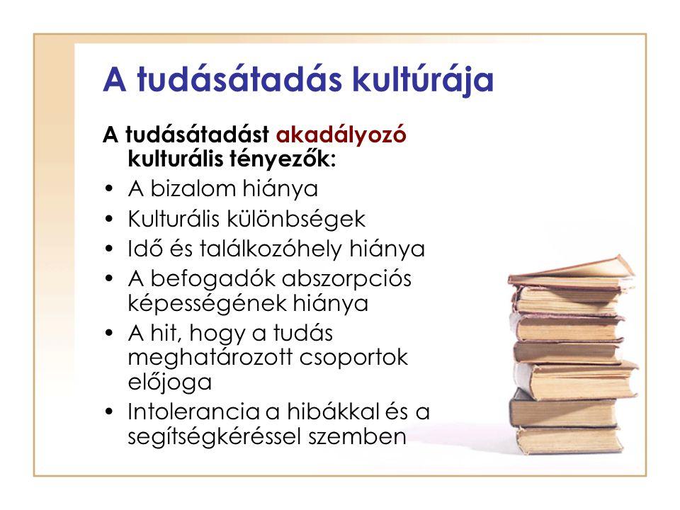 A tudásátadás kultúrája