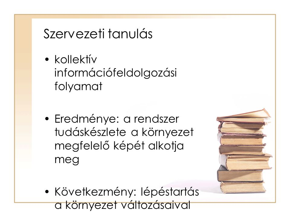 Szervezeti tanulás kollektív információfeldolgozási folyamat