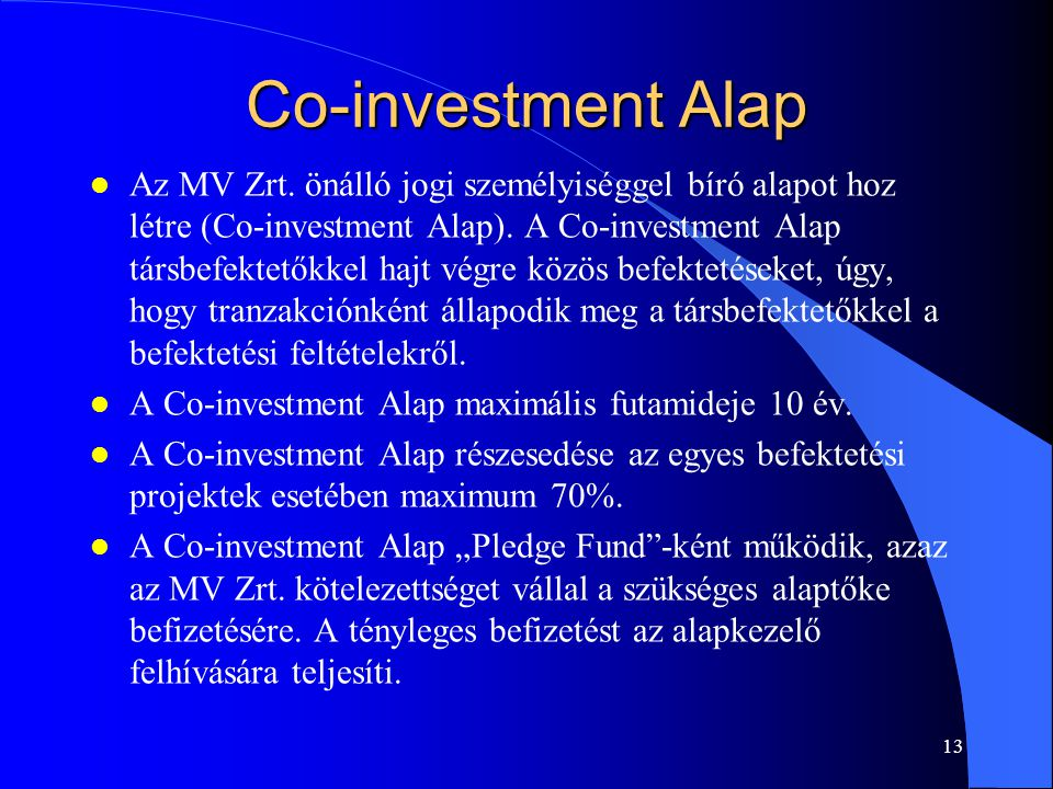 Co-investment Alap