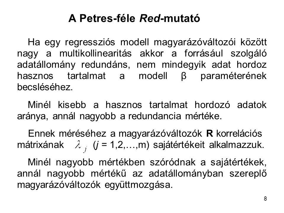 A Petres-féle Red-mutató