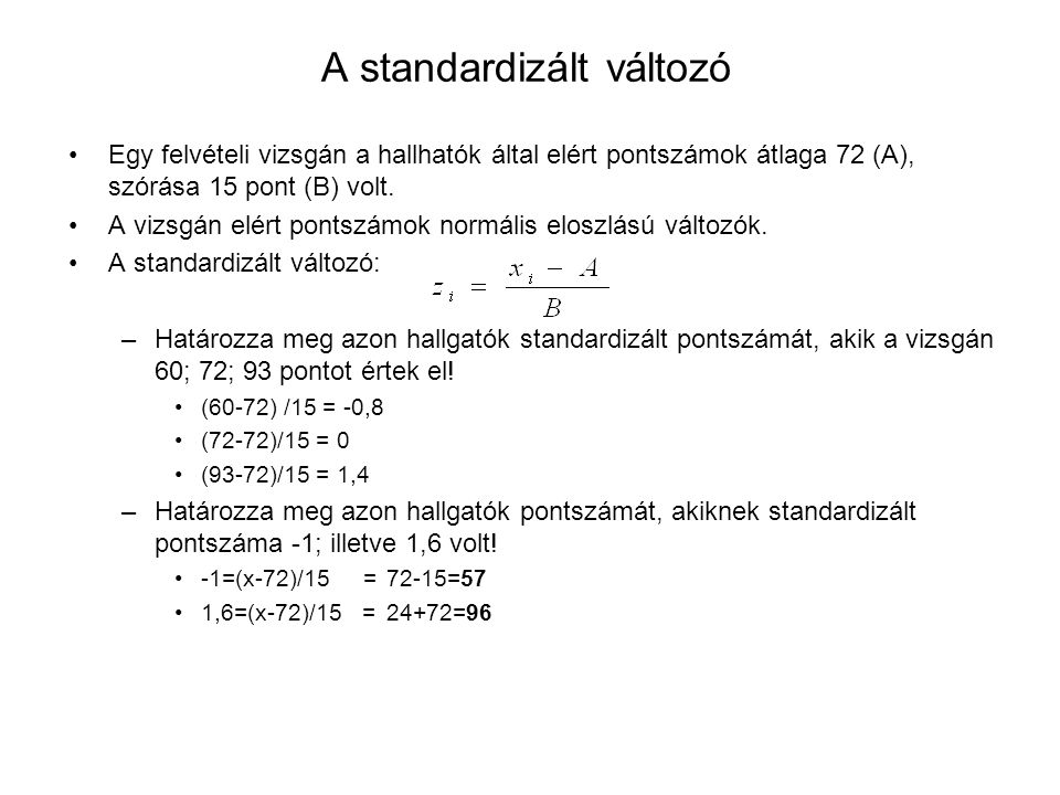 A standardizált változó