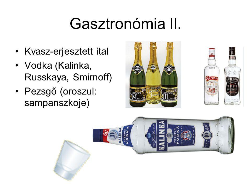 Gasztronómia II. Kvasz-erjesztett ital