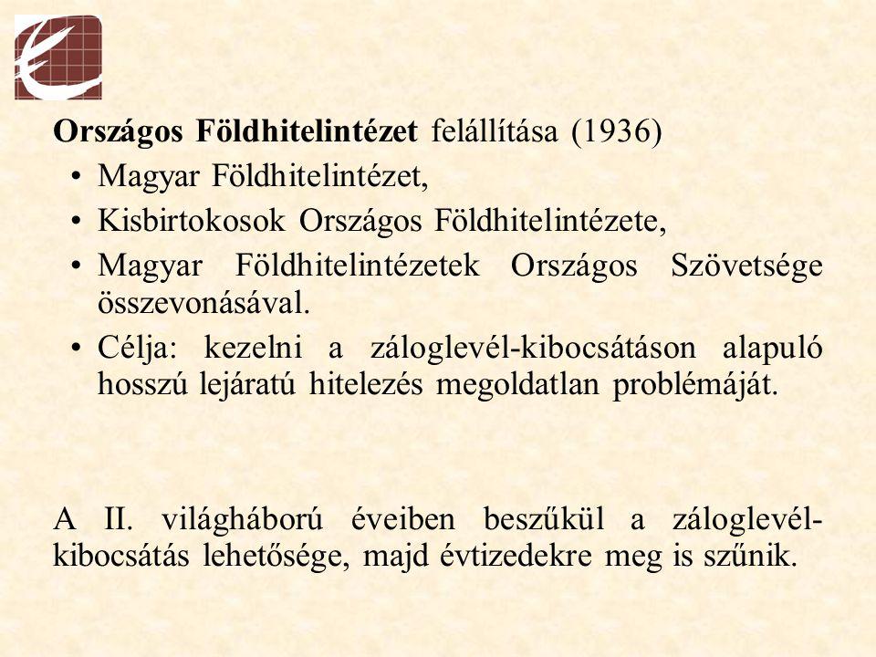 Országos Földhitelintézet felállítása (1936)