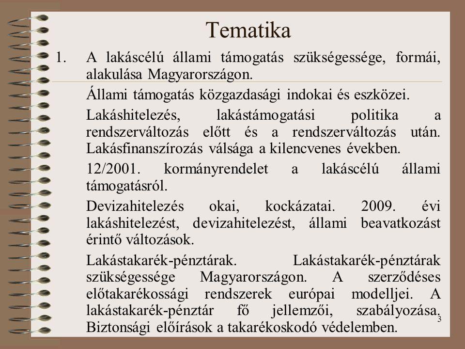 Tematika A lakáscélú állami támogatás szükségessége, formái, alakulása Magyarországon. Állami támogatás közgazdasági indokai és eszközei.