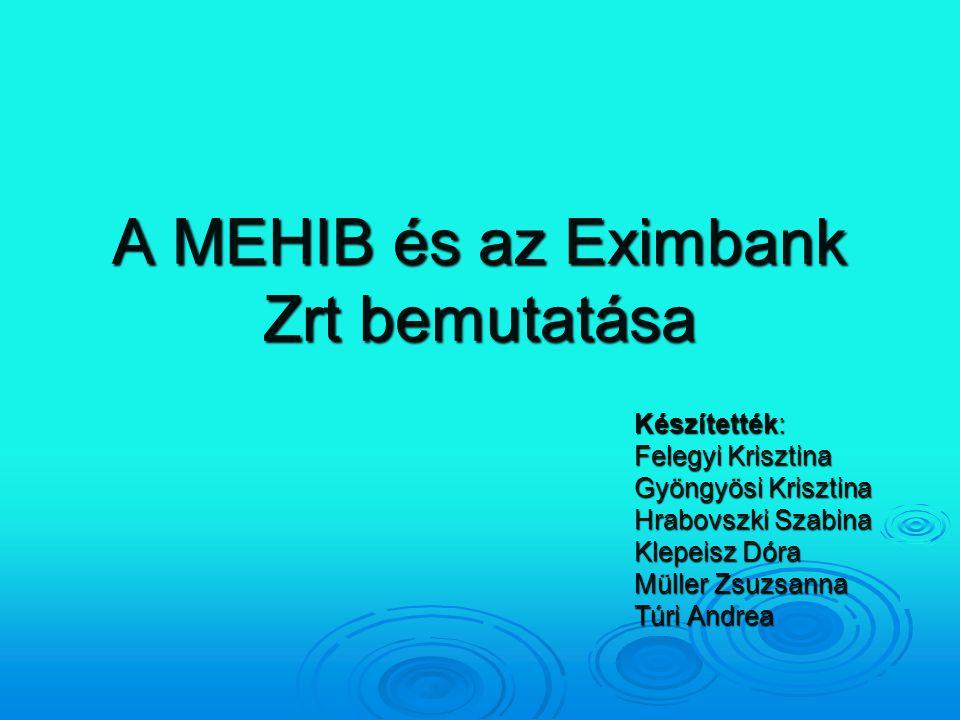 A MEHIB és az Eximbank Zrt bemutatása
