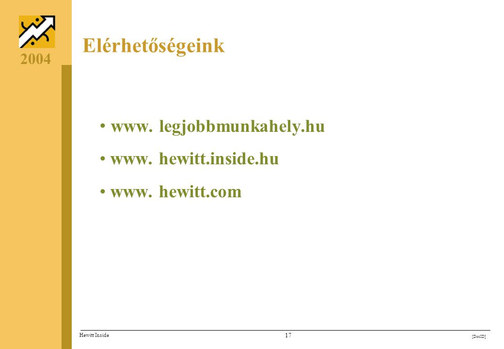 Elérhetőségeink www. legjobbmunkahely.hu www. hewitt.inside.hu