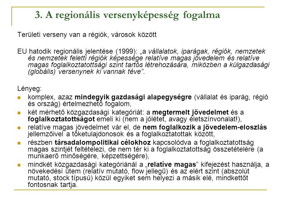 3. A regionális versenyképesség fogalma