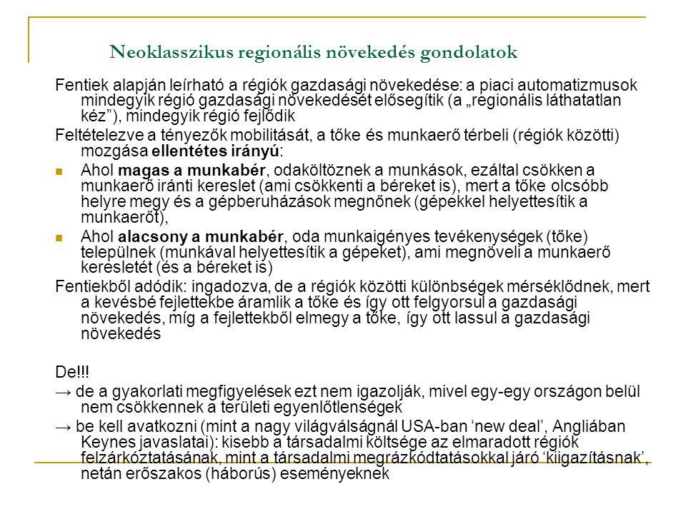 Neoklasszikus regionális növekedés gondolatok