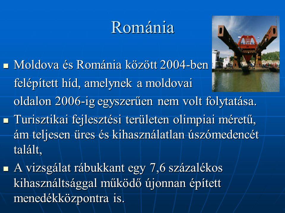 Románia Moldova és Románia között 2004-ben