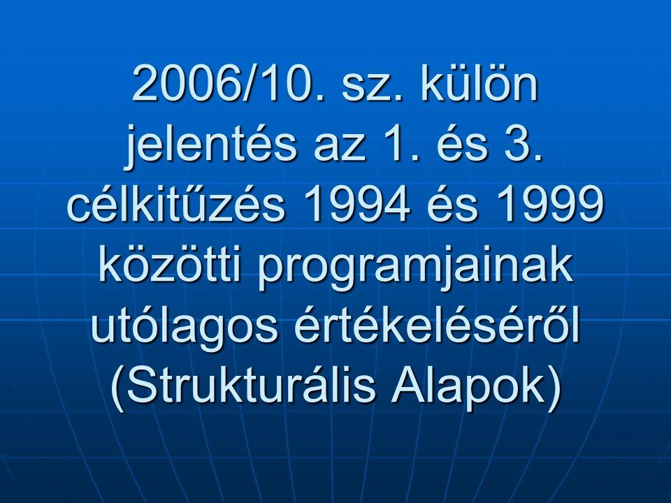 2006/10. sz. külön jelentés az 1. és 3