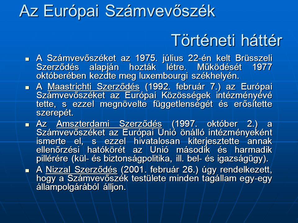 Az Európai Számvevőszék