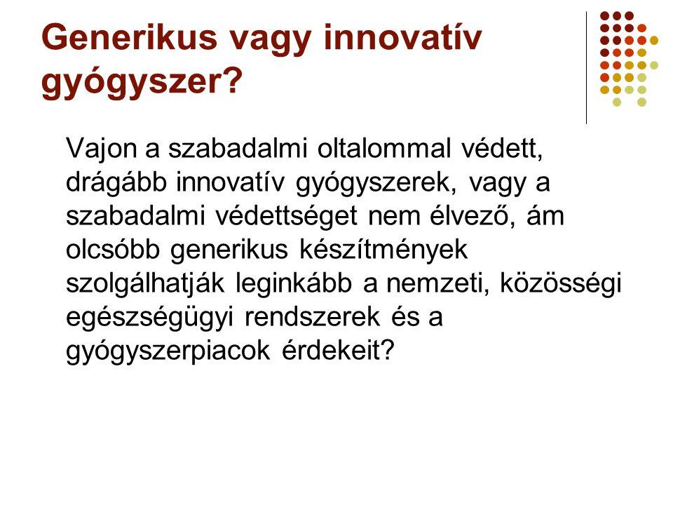 Generikus vagy innovatív gyógyszer