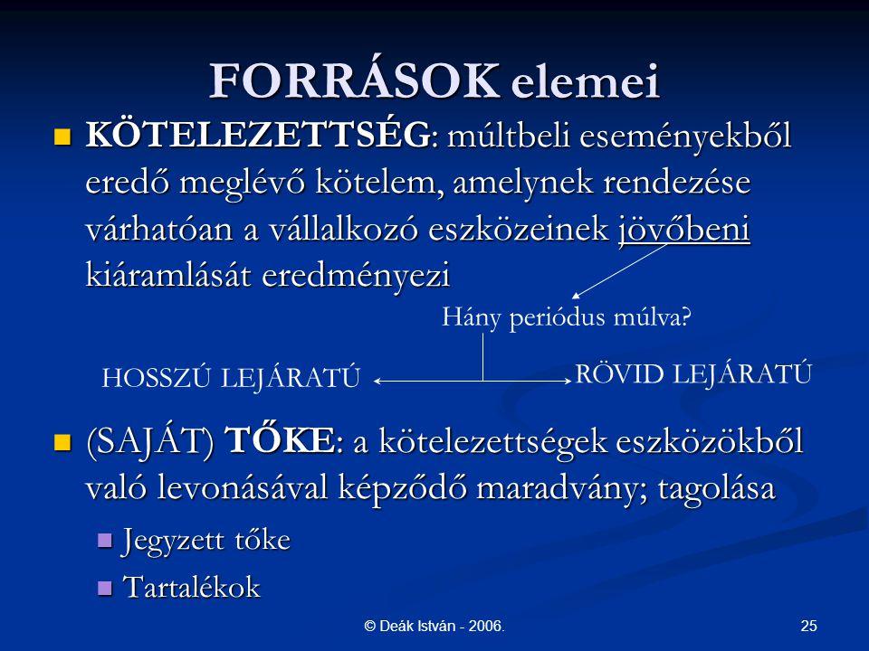 FORRÁSOK elemei